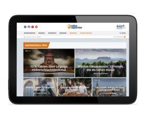 Ansicht Reisereporter auf dem iPad