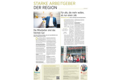 Starke Arbeitgeber der Region - Ebawe und Sparkasse Leipzig
