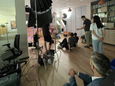 Dreharbeiten für den Imagefilm von Leipzig Media